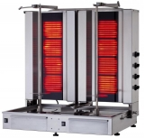 Klg 171-t Doner Grill Electric, Bottom Motor, With Glass,twin Model 4+4 Burners