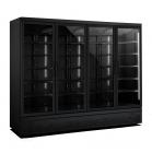 Koelkast 4 Glasdeuren Zwart Jde-2025r Bl