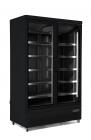 Vrieskast 2 Glasdeuren Zwart Jde-1000f Bl
