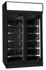 Vrieskast 2 Glasdeuren Zwart Ins-1000f Bl