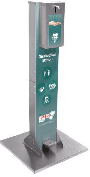 RVS Desinfectiezuil met voetbediening