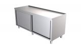 Rvs Werktafel Met Schuifdeuren + Rand 1600 x 700-line