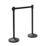 Trendy Barrier Post Black With Drawstring Black