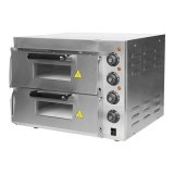 Pizza Oven Rvs (40x40cm) 2 Etages