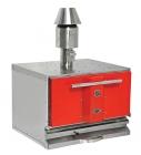 Houtskool Oven Rood | 710 mm