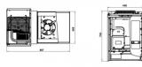 Koelcel 136x136x220cm Met Wand Motor 4.7-6.5 m3