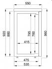 Barkoeler Zwart 2 Glasdeuren   1380 mm