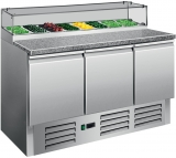 Saro Pizzawerkbank Met Glasvitrine Model PS 300 G