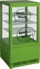 Mini-koelvitrine 70 Liter Met Verlichting Model SC 70 Groen